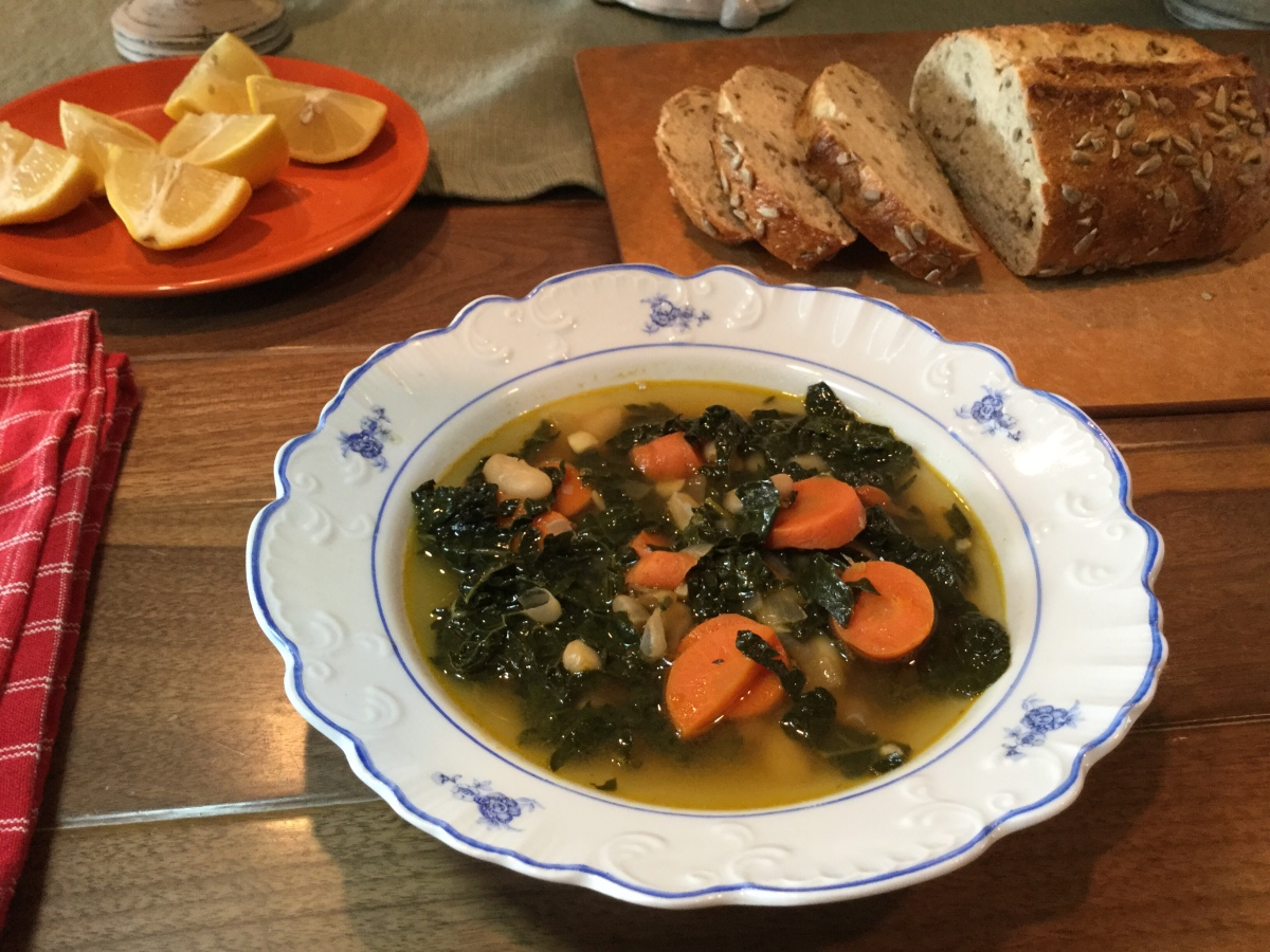 Tuscan Kale, and White Bean with Carrots and Rosemary Soup. – life ...